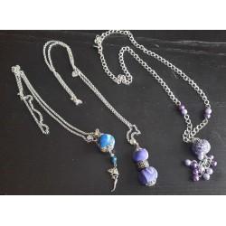 Sautoirs bleu violet