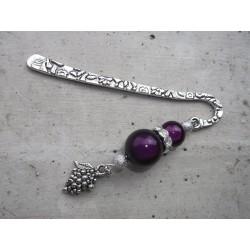 Marque page bijou violet Raisin